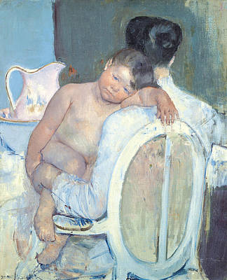 Pitcher Painting - Woman Sitting With A Child In Her Arms by Mary Cassatt
