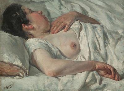 Painting - Woman Sleeping by Francesc Gimeno