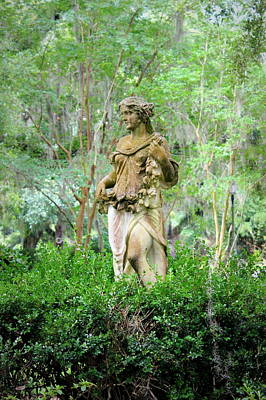Photograph - Woman Statue - The Myrtles Plantation by Beth Vincent