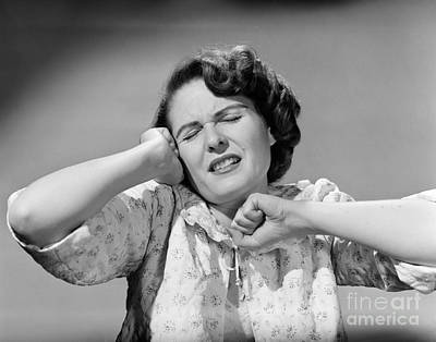 Bathrobe Photograph - Woman Stretching by Debrocke/ClassicStock
