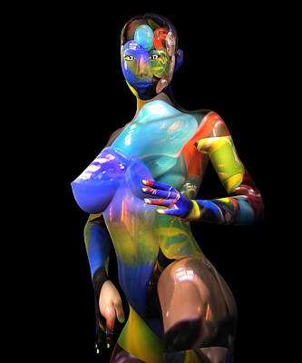 Photograph - Studio Woman Render 16 by Carlos Diaz
