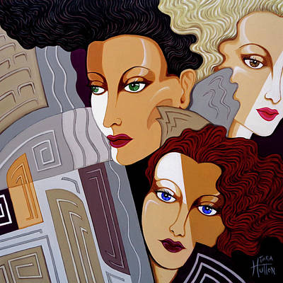 Painting - Woman Times Three by Tara Hutton