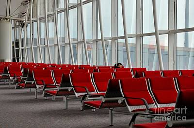 Photograph - Woman Traveler Sleeps At Hong Kong International Airport by Imran Ahmed