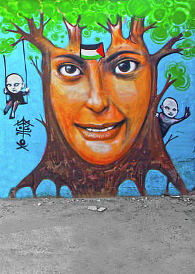 Refugee Art Photograph - Woman Tree by Munir Alawi