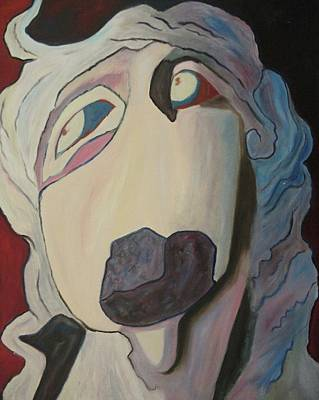 Woman Unable To Communicate Art Print by Suzanne  Marie Leclair