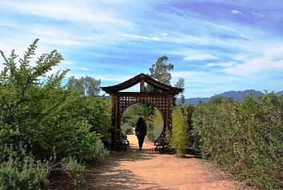 Photograph - Woman Under Gazebo In Garden by Matt Harang