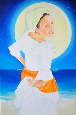 Yemaya Baila Biguine Original by KCatia Creole Art