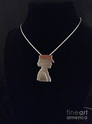 Sterling Silver Jewelry - Woman Veteran Necklace by Melany Sarafis