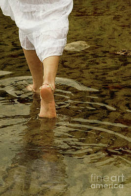 Photograph - Woman Walking Through Water by Clayton Bastiani