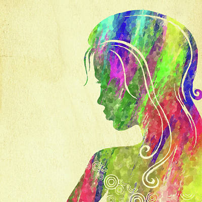 Photograph - Woman Watercolor Series Vii by Ricky Barnard