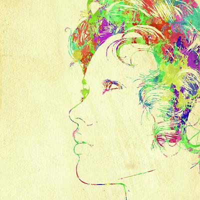 Photograph - Woman Watercolor Series Xi by Ricky Barnard