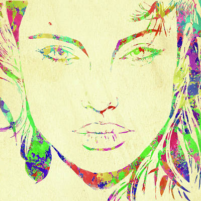 Photograph - Woman Watercolor Series Xiv by Ricky Barnard