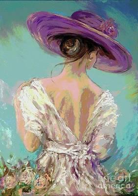 Photograph - Woman Wearing A Purple Hat by AmaS Art
