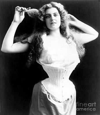 Photograph - Woman Wearing Corset 1899 by Science Source