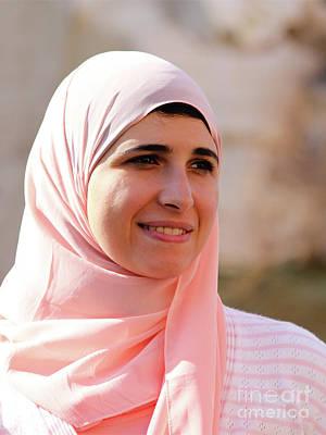 Woman Wearing Hijab Art Print