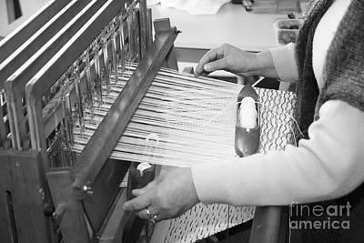Woman Weaving Art Print