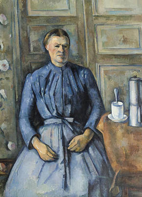 Woman With A Coffeepot  Art Print by Paul Cezanne