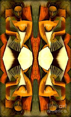 Woman With A Fan X4 Art Print by Picasso