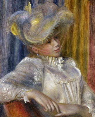 Painting - Woman With A Hat by Auguste Renoir