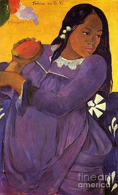Gauguin Mixed Media - Woman With A Mango by Gauguin