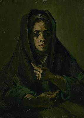 Painting - Woman With A Mourning Shawl Nuenen, March - May 1885 Vincent Van Gogh 1853 - 1890 by Artistic Panda