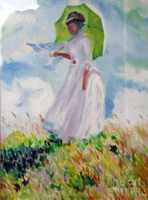 Painting - Woman With A Parasol by James Lavott