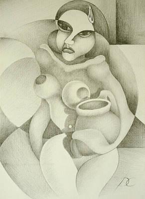 Woman With A Pitcher Art Print by Dagmara Czarnota