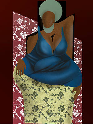 Digital Art - Woman With Afro by David James
