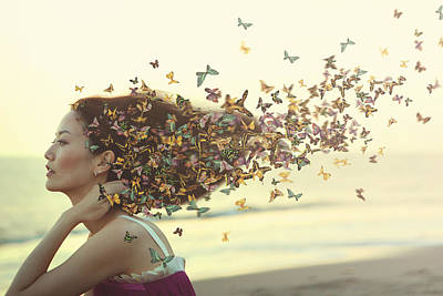 Canon Eos 5d Mark Iii Photograph - Woman With Butterfly Hair by Yuri Figuenick