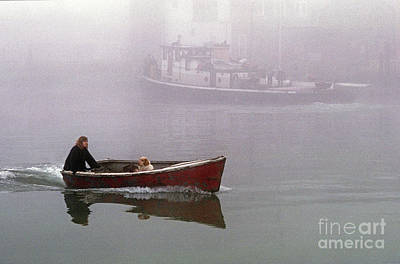 Photograph - Woman With Dog In Boat by Jim Corwin