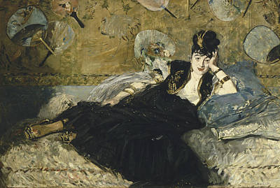 Painting - Woman With Fans by Edouard Manet