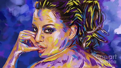 Painting - Woman With Hair Up More Color by Tim Gilliland