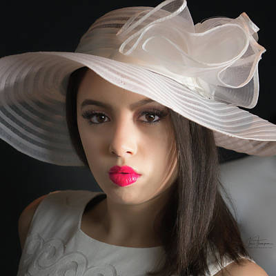 Photograph - Woman With Hat by Jim Thompson