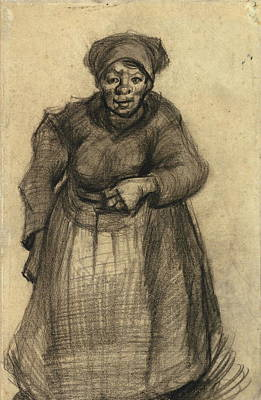 Retro Look Painting - Woman With Her Left Arm Raised, 1885 by Vincent Van Gogh