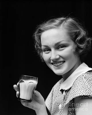 Woman With Milk, C.1930s Art Print