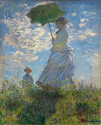 Woman With Parasol  Original by Claude Monet