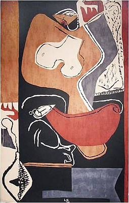 Mourlot Painting - Woman With Rising Hand by Le Corbusier