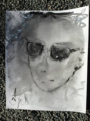 Drawing - Woman With Sunglasses by Elizabeth Parashis