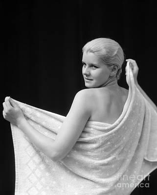 Woman With Towel, 1930s Art Print