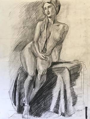Woman With Turban Art Print by Alejandro Lopez-Tasso