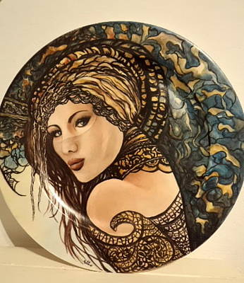 Painting - Woman With Veil by Patricia Rachidi