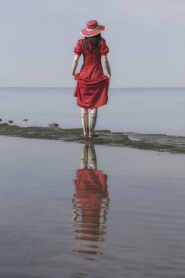 woman with Wellies Art Print