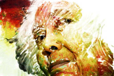 Woman With White Hair Art Print by James VerDoorn