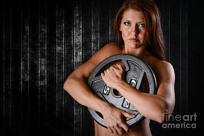 Female Bodybuilder Photograph - Woman Workout by Jt PhotoDesign