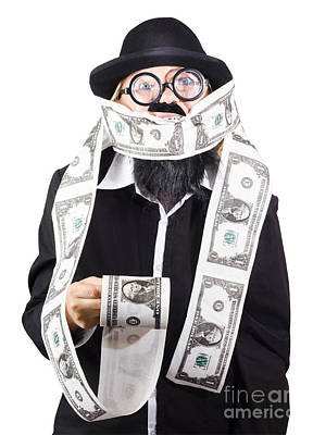 Clothes Clothing Photograph - Woman Wrapped In Money by Jorgo Photography - Wall Art Gallery