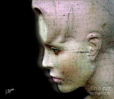 Science Fiction Photograph - Woman Written In Stone  by Steven Digman