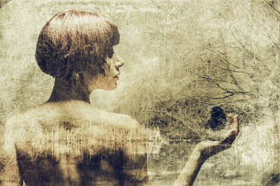 Photograph - She Dreams - Sepia by Marilyn Wilson