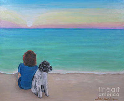 Painting - Woman's Best Friend by Robyn Saunders