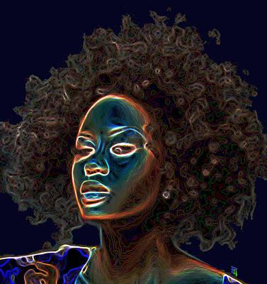 Self Shot Digital Art - Womans Essence IIi  by  Fli Art