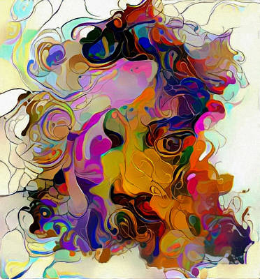 Digital Art - Woman's Face by Bruce Rolff